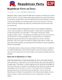 Civics Election Unit Day 1 Republican Party Platform Reading