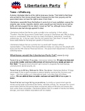 Civics Election Unit Day 2 Libertarian Party Platform Reading