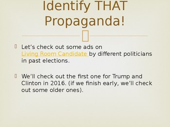 Civics Election Unit Day 4 Propaganda and Watchdogs