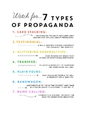 Civics Election Unit Day 4 Types of Propaganda