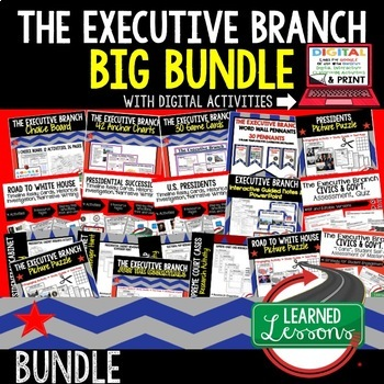 Civics Executive Branch of Government BUNDLE (Civics & Government Bundle)