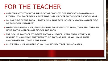 Civics First Day Activity- Controversy!