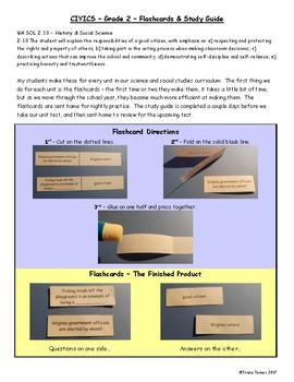 Civics Flashcards & Study Guide - Grade 2