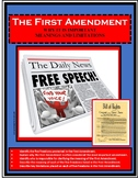 Civics - Government - FIRST AMENDMENT - Bill of Rights