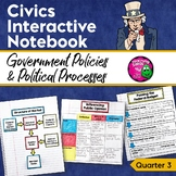Civics & Government Interactive Notebook Government Policies Political Processes