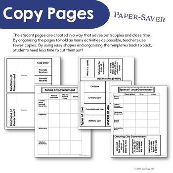 Civics & Government Interactive Notebook Organization & Function of Government