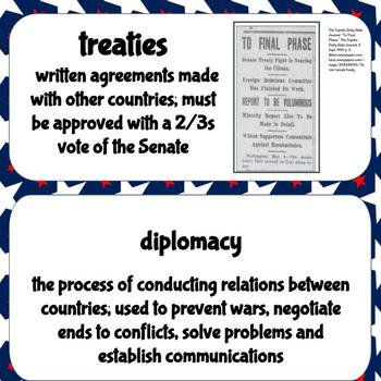 Civics & Government Word Wall: Foreign Policy