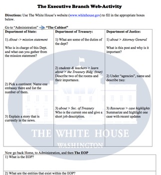 Civics/Govt. Internet Activities Bundle (Six Assignments)