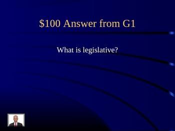 Civics Jeopardy 7th grade History