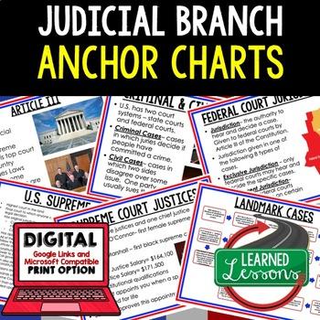 Civics Judicial Branch Anchor Charts