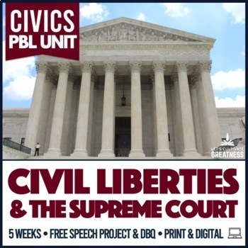 Civics Supreme Court Judicial Branch & Constitutional Rights PBL Unit