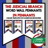 Civics Judicial Branch Pennant Word Wall