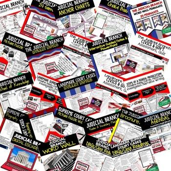 Civics Judicial Branch of Government BUNDLE (Civics & Government Bundle)