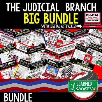 Civics Judicial Branch of Government BUNDLE (Civics & Gove