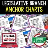 Legislative Branch Anchor Charts, Legislative Posters, Civics Anchor Charts