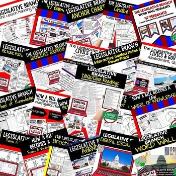 Civics Legislative Branch of Government BUNDLE (Civics & Government BUNDLE)