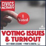 Election Activity 6-Pack: Voting Turnout, Requirements, Comparison, & Behavior