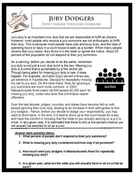 Civics - Life Skills - Government, JURY DUTY