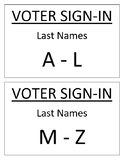 Civics Mock Elections Precinct Signs