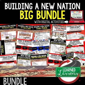 Civics New Nation Colonial Period-Consitutional Convention BUNDLE (Civics Bundle