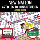 New Nation Anchor Charts, Articles of Confederation Posters, Civics Anchor Chart