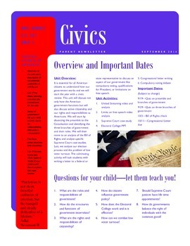 Civics Newsletter