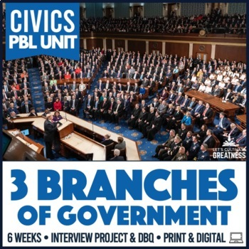 Civics PBL: 3 Branches of Government & Checks and Balances Unit