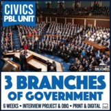 3 Branches of Government Checks and Balances PBL Unit