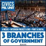 Civics 3 Branches of Government & Checks and Balances PBL Unit