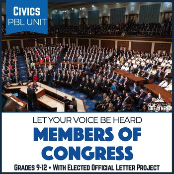 Civics PBL Mini-Unit: Civic Participation, Write Your Member of Congress