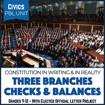 Civics PBL Mini-Unit: Three Branches, Checks & Balances, Elected Officials