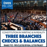 Civics PBL Mini-Unit: Three Branches, Checks & Balances, Elected Officials