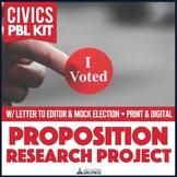Civics Ballot Measure Debate, Mock Election, Letter to the Editor PBL Mini Unit