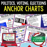 Political Parties Anchor Charts, Voting & Elections Anchor Charts, Civics
