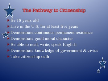 Civics - Powerpoint on Citizenship Process