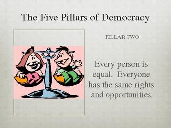 Civics - Powerpoint on Pillars of Democracy