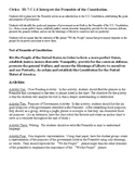 Civics: Preamble to Constitution - Enumerated Purposes of