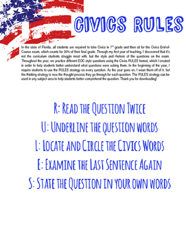 Civics RULES Question Analysis