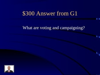 Civics Race 6 SOL Review Jeopardy