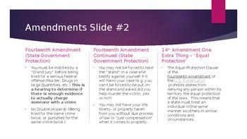 Civics Review -- Amendments / Civil / Criminal Procedure