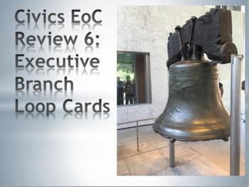 Civics Review Loop Cards: Executive Branch