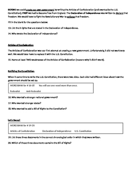 Civics Review Quiz