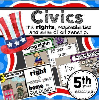 Civics SS5CG1,2,3 Amendments and Citizenship
