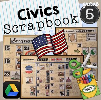 Civics Scrapbook SS5CG1 Bill of Rights, Voting & Civil Rig