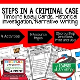 Steps in a Criminal Case Sequencing & Writing (Paper & Google Drive)