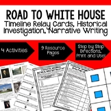 Civics Steps to Presidency Sequencing & Narrative Writing (Paper & Google Drive)