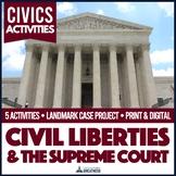 Supreme Court Landmark Court Cases Mini Unit PBL