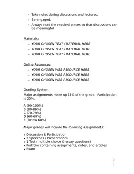 Civics Syllabus (Doc)