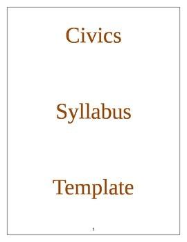 Civics Syllabus Template