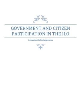 Civics-Teaching Students about international organizations: ILO